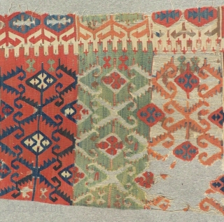Second 18th Century Anatolian fragment Kilim Size.250x85 Cm