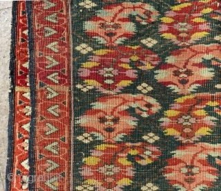 Antique Caucasian Zeyhur Small Rug Size.78x65 Cm