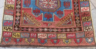 Early 19th Century Central Anatolian Konya Rug l have Some Old Repairs Size.290x147cm