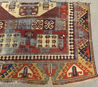 Mid 19th Century Caucasian Karatchopf fragment Rug Size:155x100 cm