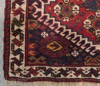 Antique Qasgqai Khamseh Bagface Size.58x50 Cm