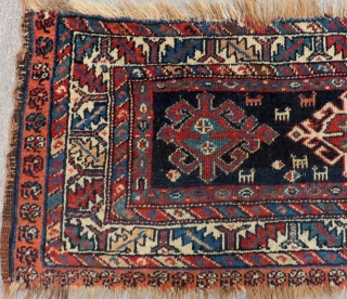 Antique Persian Veramin Mafrash Bag face Size.98x42 Cm