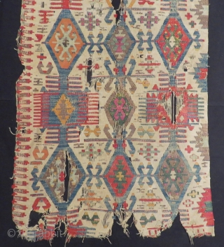 Early 19th Century Anatolian Kilim fragment Size.180x70 Cm