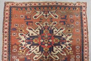 Mid 19th Century Caucasian Adler kazak All Colours Natural Size.185x138 Cm
