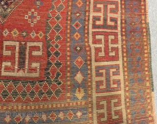 Antique Caucasian Karachopf Rug Circa 1860 1870.Size.224x113 Cm