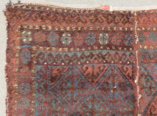 Antique Baluch Yatak orjinal two part Rug Size.190x155 Cm