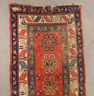 Secound 19th Century Shahsaven Runner Rug Size.375x92 Cm