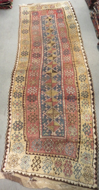 Early 19th Century East Anatolian Erzurum Carpet Size.355x125cm