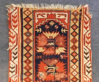 Early 19th Century West Anatolian Megri fragment Rug Size.98x58 Cm