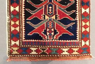 Antique Cacasian Shirvan Bagface Size.41x41 Cm