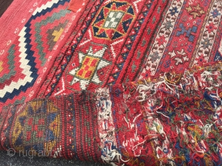"""Antique """"Bakhtiar-Luri"""" Bag - 140 x 76 cm   Lovely colors, overall good condition with small repairs."""