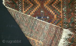 Antique Zaboul(Zabol) rug, wool and wool, size: 86*48cm, late 19th century, all natural colors.