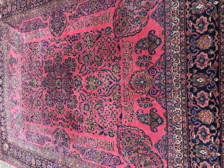 Antique Sarouk Saroughcarpet With Hafez poem 1880-1900 Very clean and ready to use  267x360 3500€ plus shipping