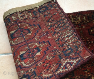 Antique Tekke torba * very lustrous wool * very nice colours * excellent condition * Size: 27 x 76 cm