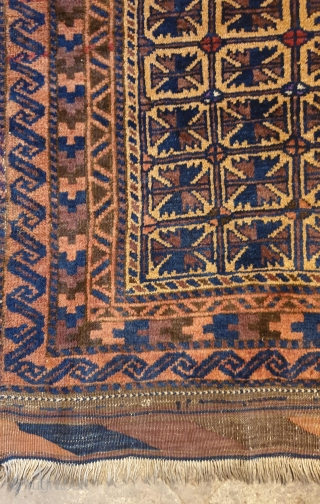 Balouch prayer rug almost in a good condition,circa 1900 Shiny wool , size 122 * 88 cm