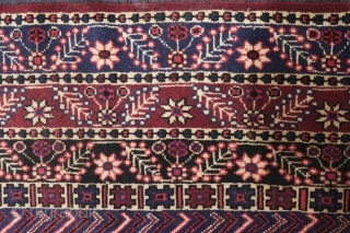 Seldom afshar rug,with central diamonds  & three equal margins ,circa 1940, excellent condition measurements 350*250 cm