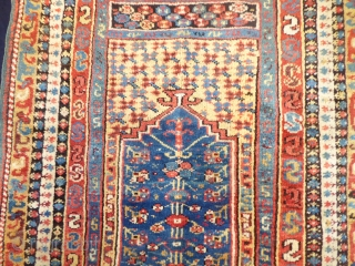 Ref 1610 Antique Makri prayer rug in excellent condition with glossy wool and vivid natural dyes. Mid nineteenth century. 6'0 x 3'11 - 184 x 120