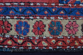 "Antique Heriz (not Karadja) runner 322 x 100 cm ( 10ft 9"" x 3ft 4"") late 19th/early 20th century all natural dyes  colours: red, dark blue, mid blue, ocre, green, soft  ..."