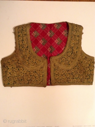 This vest is probably from one of the countries which was part of the Ottoman Empire before the First World War such as Turkey, Greece, Albania, etc.  It is in perfect  ...