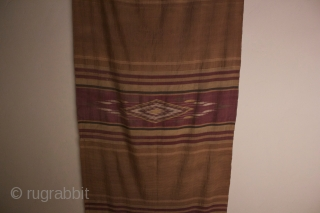 This is a Syrian textile that is 11 ft. long and 32 inches wide.  It is  very finely woven silk and in good condition although there are some very tiny  ...