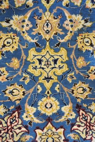 Isfahan, wool with silk knotted on cotton, 1000.000 knots per sq. M. 