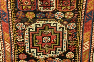 Moghan, Caucasus, antique around 1900, needs love, respect and restauration.  As found, didn't clean it - in the middle an old rather crude restauration.  The sides need to be fesnooned, wear in  ...