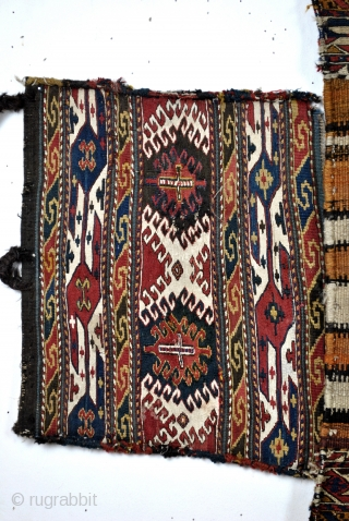 Mafrash 2 matching long panels and  with 2 other end panels. 19th century.
