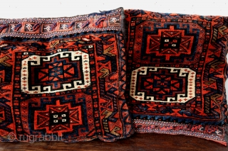two pillows made of a bag. 