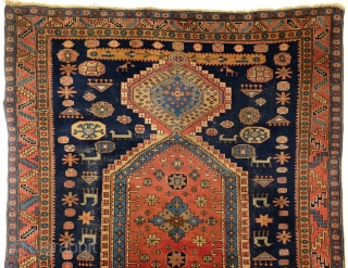 Kazak, Shirvan area, natural colors, large - 300 x 226 Cm. 10 ft. x 7.5 ft.  Nice thight pile, in good condition.   ON HOLD