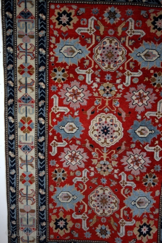 Karaghashli, 1920, natural colors, tomato red field.  143 x 94 Cm.  original sides and headings.  clean , not washed.