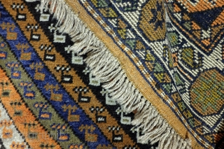 Afshar, 188 x 107 Cm.  6.2 ft. x 3.5 ft.  Wool on wool.   Old colors. Thight knotted.    On this rug that is easy to see.  These barber pole stripes are typical  ...