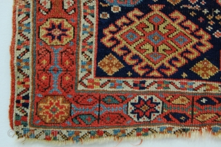 """South Persian bag face with unusual minor border 2'6"""" x 1'7"""" (76cm x 48cm)"""