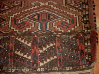 #6845 Antique Yomud Ensi Rug 