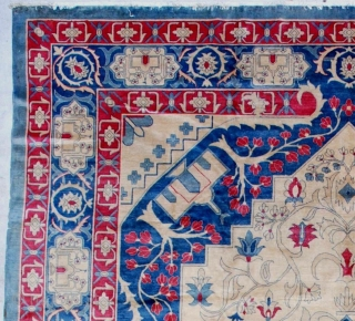 """#7147 Antique India Amritsar Rug  This circa 1900 fabulous India Amritsar rug measures 9'11"""" x 13'10"""". It is extremely finely woven with a knot per square inch count of 240.  It  ..."""