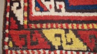 #7283 Kazak Antique Caucasian Rug 