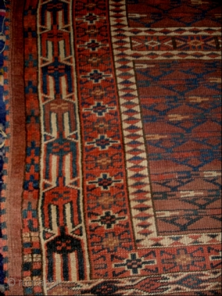 #6845 Yomud Ensi antique rug