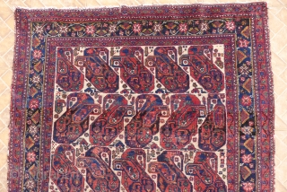 .Afshar rug, Mother and child Boteh design, 6.2ft x 4.8ft. (186 x 148 CM.) Around 1910