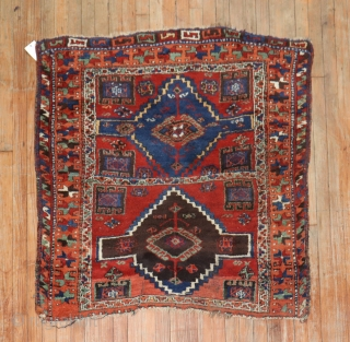 Antique East Anatolian?  Size 3'9''x4'.  Re sized and one end is missing large portion of border.  still a old and sought after piece.