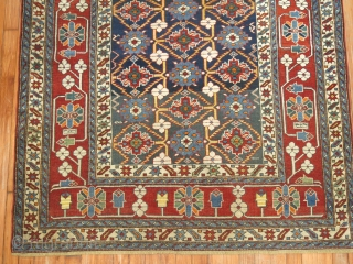 Antique Dated Caucasian 4'4''x4'10''.  Very good condition. Dated. Has some minimal professional repair.