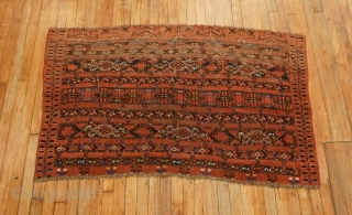 Turkoman or Ersari. 3'3''x5'.  Super cool.  Scattered low areas.