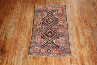Dated Kurdish?  NW? Tribal rug.  3'x5'6'' Some minor low areas