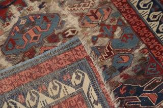 Antique Zeychour Kuba Bidjov.  Has seen better days.  3'7''x4'11''