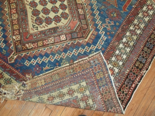 Antique Shirvan rug Size 5'4''x10'.  Needs some obvious repair.  Worthy project!