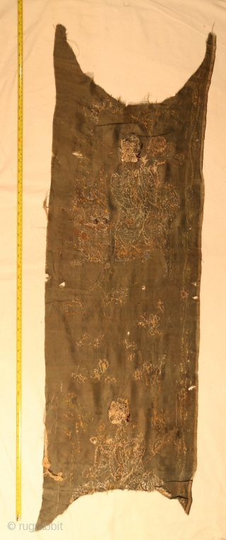 17thC Chinese silk embroidery