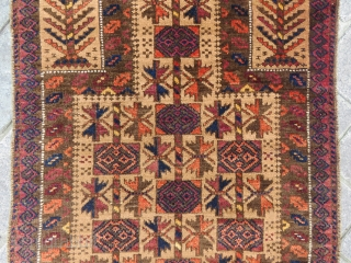 Baluch Prayer rug nice colors , very good condition all original and size 1,23 x 80 cm Circa 1915-1920