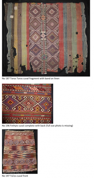 I am selling my collection of Anatolian cuvals. Conditions: From mint cond. to fragments. More photos and info if you ask Price is what I paid some years ago. If you are interested please ask me  ...