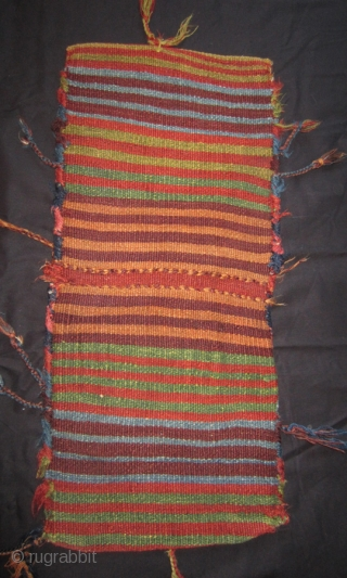 Shahsevan saddle bag 19th cent. 30 x 68 cm full size. Sumac weave of very high quality. All wool and natural colours. More info or photos if you ask. Seller is a retired private collector.