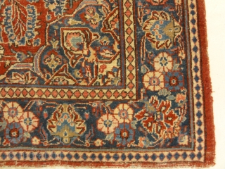 "Antique Persian Kashan Rug - Size: 6'8"" x 4""3"""