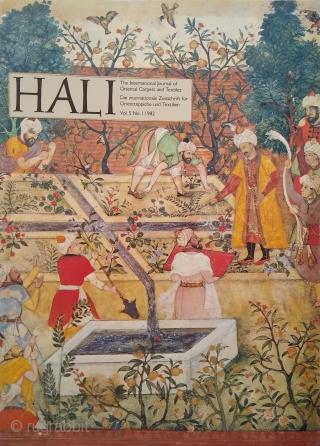Hali Magazine Vol 5, issues 1, 2 3 and 4 (Hali #17, #18, #19, #20)  Hali #17: £60 plus delivery. Excellent condition Hali #18: £60 plus delivery. Excellent condition Hali #19: £60 plus delivery. Excellent  ...