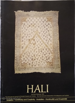 Hali Magazine, Vol2 2, issues 1, 2, 3 and 4 (Hali #5, #6, #7 and #8).  Hali #5: £40 plus delivery (right hand mid front cover worn, light soiling and wear to covers,  ...